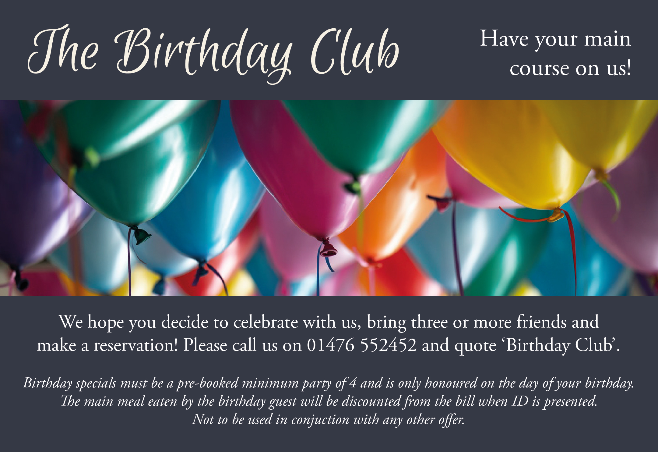 THE WOODHOUSE ARMS BIRTHDAY CLUB